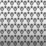 Zwart luxe sier bloemenbehang Stock Foto's