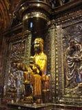 Zwart Madonna van Montserrat Stock Afbeeldingen