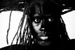Zwart mannelijk kapsel royalty-vrije stock afbeeldingen