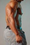 Zwart mannelijk torso royalty-vrije stock foto's
