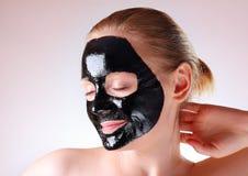 Zwart masker Stock Afbeelding