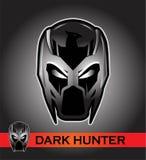 Zwart masker racer ruiter Proef superhero schurk stock illustratie