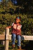Zwart meisje in platteland Royalty-vrije Stock Afbeelding
