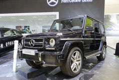 Zwart Mercedes g63 amg Stock Afbeelding