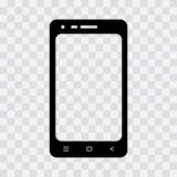 Zwart mobiel telefoonpictogram Vector illustratie stock illustratie