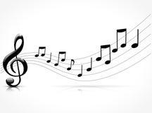Zwart muzikaal concept stock illustratie