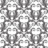 Zwart Naadloos Behang Royalty-vrije Illustratie