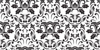 Zwart Naadloos behang stock illustratie