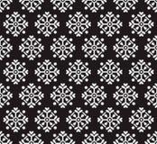 Zwart naadloos behang Stock Fotografie