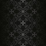 Zwart naadloos behang. Stock Foto
