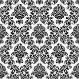 Zwart Naadloos Behang Stock Afbeelding