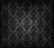 Zwart naadloos behangpatroon Stock Afbeeldingen