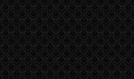 Zwart naadloos behangpatroon Stock Afbeelding
