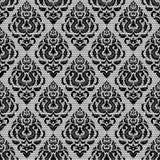 Zwart naadloos kant Stock Afbeelding