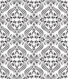 Zwart naadloos sierbehang Royalty-vrije Stock Afbeeldingen