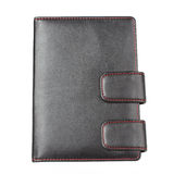 Zwart notaboek Stock Afbeelding