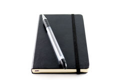 Zwart Notitieboekje Royalty-vrije Stock Afbeeldingen