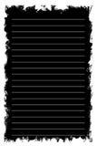 Zwart notitieboekjedocument op witte achtergrond stock afbeeldingen