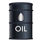 Zwart olievat geïsoleerd pictogram Stock Foto