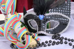 Zwart oogmasker Stock Foto