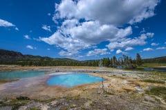 Zwart Opal Pool Yellowstone Stock Afbeelding