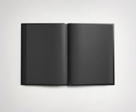 Zwart open boek vector illustratie