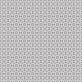Zwart overladen naadloos patroon, doorweven lijnen Stock Foto's