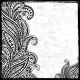 Zwart Paisley frame Stock Fotografie