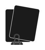 Zwart paperclip en documentontwerp Stock Foto