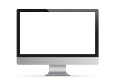 Zwart PC-Monitormodel Stock Afbeelding