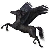 Zwart Pegasus-Profiel Royalty-vrije Stock Afbeelding