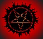 Zwart Pentagram-pictogram Royalty-vrije Stock Foto