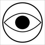 Zwart pictogram van oog in een cirkel Royalty-vrije Stock Foto