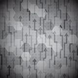 Zwart pijlen naadloos patroon Stock Afbeelding