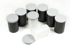 Zwart plastic filmbroodje Stock Afbeeldingen