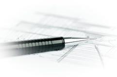 Zwart potlood op schets Royalty-vrije Stock Afbeeldingen