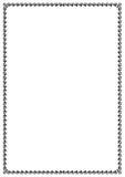 Zwart rechthoekig kader Royalty-vrije Stock Afbeeldingen