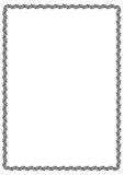 Zwart rechthoekig kader Royalty-vrije Stock Afbeelding