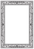 Zwart rechthoekig retro kader Royalty-vrije Stock Afbeelding