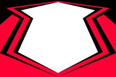 Zwart-rode banner. Royalty-vrije Stock Afbeelding