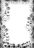 Zwart rozenframe royalty-vrije illustratie