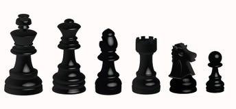 Zwart schaak stock illustratie