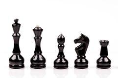 Zwart schaak stock fotografie