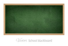Zwart schoolbord Geïsoleerd Voorwerp Royalty-vrije Stock Foto's