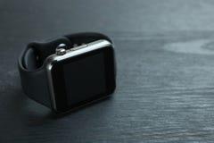 Zwart slim horloge royalty-vrije stock foto