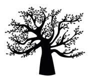 Zwart stamboommalplaatje royalty-vrije illustratie