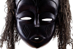 Zwart stammengezichtsmasker op wit Royalty-vrije Stock Fotografie