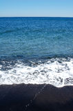 Zwart Strand in Griekenland Royalty-vrije Stock Foto