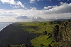 Zwart strand, Vik, IJsland Stock Foto