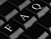 Zwart toetsenbord stock illustratie
